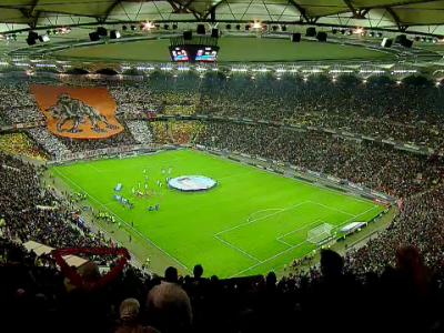 A inceput SPECTACOLUL pe National Arena! Fanii au incins atmosfera! Suporterii au realizat coregrafii SUPERBE FOTO