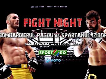 "Super gala de MMA in direct la Sport.ro! ""Bombardierul"" Pascu vs ""Spartanul"" Izidor! Vezi tot card-ul galei"