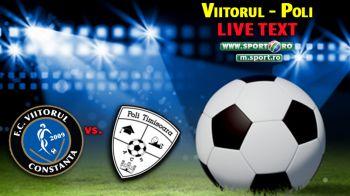 Viitorul 1-2 ACS Poli Timisoara! Oaspetii castiga 3 puncte uriase in lupta pentru evitarea retrogradarii! Toate fazele meciului: