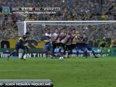 ASTA e lovitura libera PERFECTA! Nimeni nu putea sa scoata ASA ceva! Ce gol a dat Riquelme azi-noapte in Boca - River