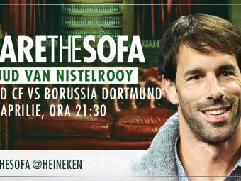 Van Nistelrooy comenteaza Real - Dortmund pe canapeaua virtuala Heineken. Pune-i aici o intrebare