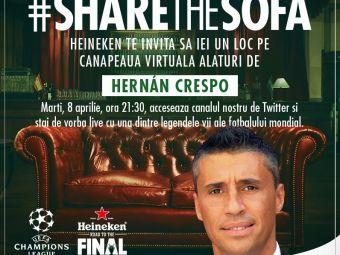 A fost cel mai scump din lume, acum comenteaza UCL cu tine! Pune-i AICI o intrebare lui Hernan Crespo