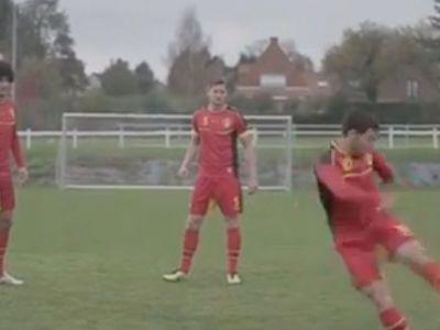 VIDEO SENZATIONAL! Cameramanul a fugit de pe teren! Ce a facut Hazard la antrenament e fantastic