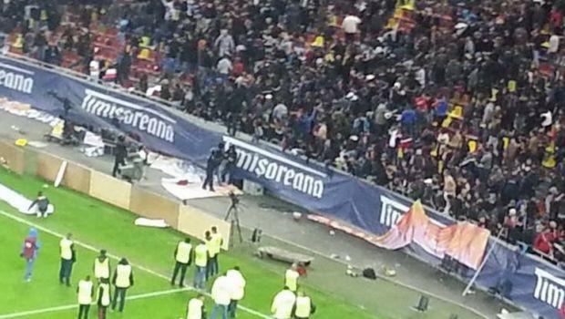 """Jandarmi si stewarzi raniti dupa incidentele de pe National Arena! Jandarmeria: """"De vina e firma privata de securitate"""""""