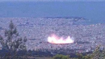 Au crezut ca un ASTEROID a cazut in oras, dar au ramas inmarmuriti cand au aflat ce era! FOTO senzational cu stadionul lui PAOK