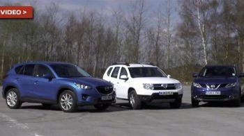 Test comparativ: Duster vs Qashqai vs Mazda CX-5! Afla cine a castigat cea mai intrecere intre SUV-uri! VIDEO