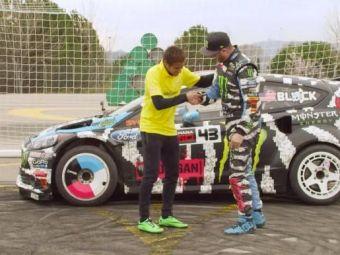 Poti sa dai gol cu masina? SUPER VIDEO Neymar vs cel mai tare drifter din lume! Vezi ce a iesit: