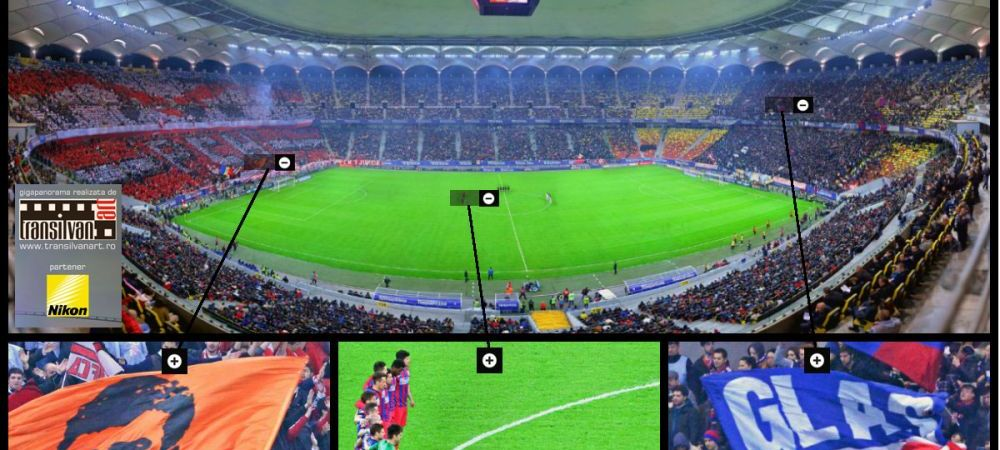EXCLUSIV! Prima GIGAPANORAMA la un meci din Romania! Ai fost la Dinamo - Steaua? Ia-ti fotografia de la meci aici: