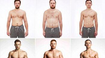 Transformarea incredibila a acestor barbati in 10 saptamani, fara sa calce in sala de sport