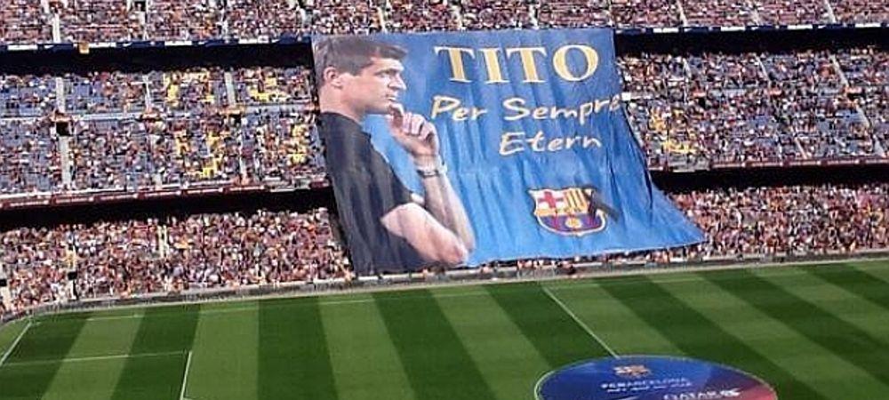 Imagini cutremuratoare pe Camp Nou: Chipul lui Tito a aparut in tribuna! Tot stadionul a privit in lacrimi