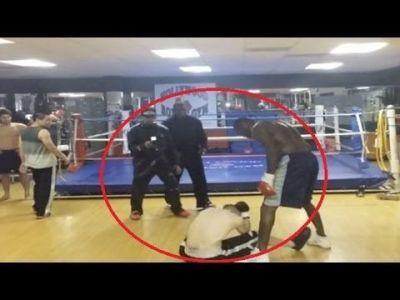Bataie incredibila in sala! Un boxer profesionist a fost provocat de o persoana care il injura pe Internet! Vezi cum s-a terminat