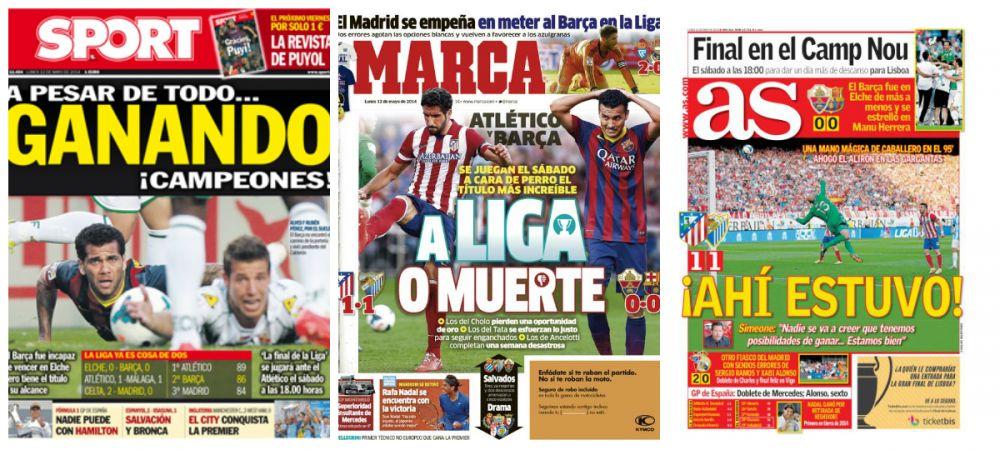 """Atletico are doua FINALE cu Barcelona si Real! Simeone: """"Sunt mandru!"""" Ce a spus dupa ce Atletico a ratat titlul in min 94"""