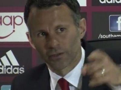 """""""Nu, te rog eu!"""" Ce a facut Giggs in timpul conferintei de presa cand a vazut bucuria de titlu a lui Manchester City"""