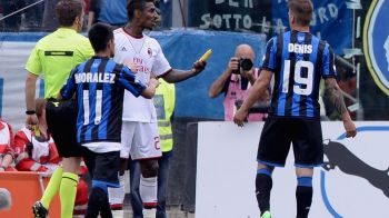 INACCEPTABIL! La Atalanta - Milan a fost o tentativa de omor pe teren! Ce au aruncat fanii Atalantei pe gazon! Imagini SOCANTE!