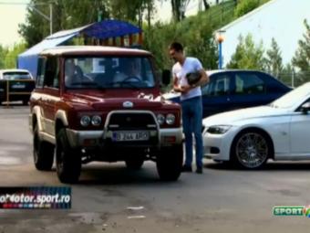 VIDEO Stefan Iovan a dus in Ghencea un ARO, ca cel primit dupa castigarea CCE! Cum a reactionat Tatarusanu cand l-a vazut