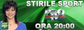 Diseara, ora 20:00, la Stirile din Sport ale Pro TV: Romanca cu un nume UNIC in lume, nascuta pe 7 Mai 1986!