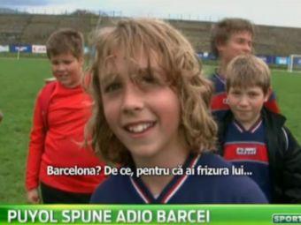 """""""Sunt mare fan Puloi! Aaa, Puyol!"""" :) Clona capitanului care s-a retras de la Barca joaca in Romania VIDEO"""