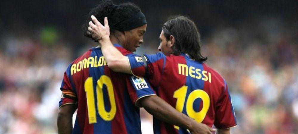 IMAGINEA BOMBA a verii! Ronaldinho si Messi, din nou impreuna la Barca! Mourinho revine ca antrenor la echipa care l-a facut URIAS