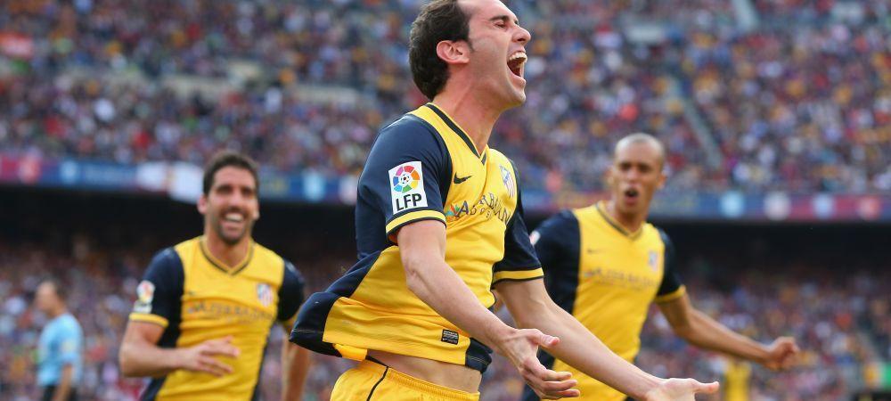 AtletiCAMPIOANA! Godin a marcat un gol cat un titlu! SimeONE a reusit minunea, Diego Costa s-a rupt! Barca 1-1 Atletico