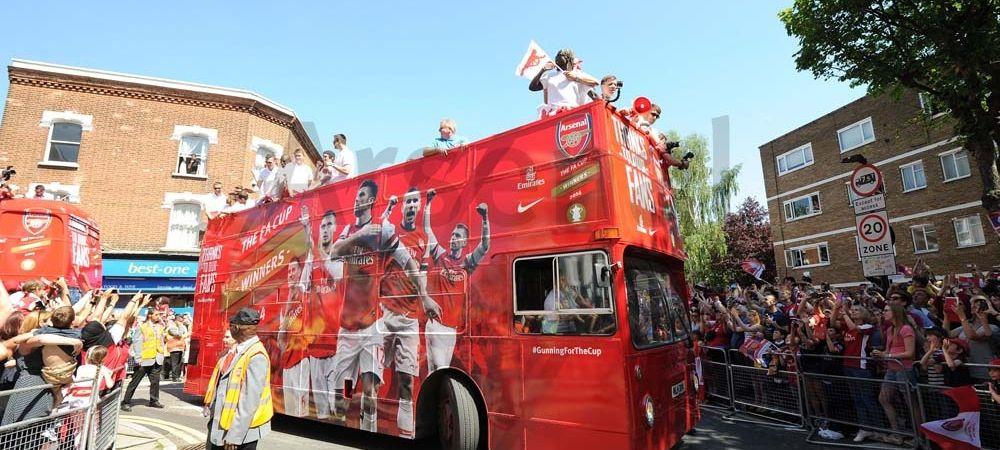 SARBATOARE in Londra! Fanii lui Arsenal au iesit pe strada dupa victoria din Cupa! Cele mai tari imagini de la petrecere VIDEO