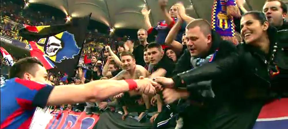 Moment tensionat la petrecerea de titlu a Stelei: Cum au reactionat fanii in clipa in care au auzit numele lui Gigi Becali