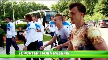Nationala Suporterilor a ajuns in cantonamentul lui Piturca! Momente de senzatie pentru fani :)