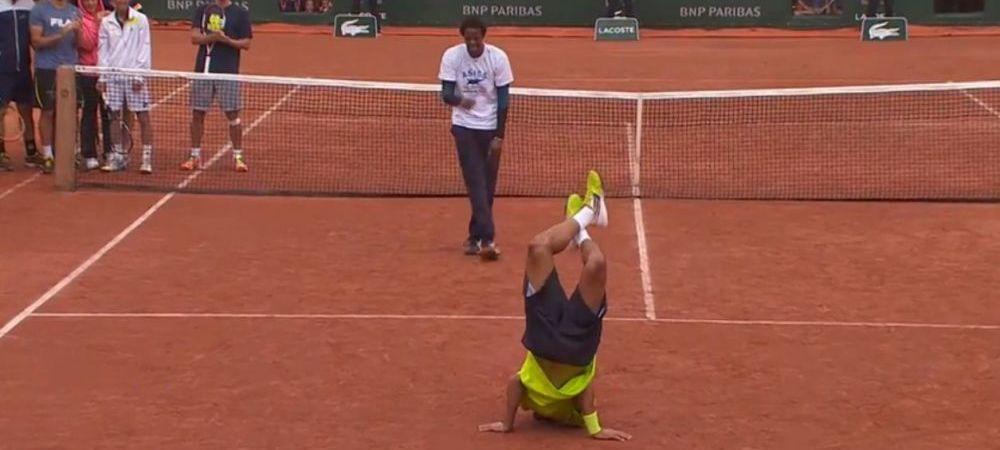 SENZATIE! Cea mai tare faza pe un teren de tenis! Monfils si Lokoli au facut breakdance la Roland Garros! :)) VIDEO