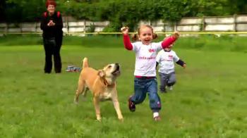 Cea mai tare cursa din Bucuresti de ziua copilului. Cine a castigat cursa dintre copii si caini :)