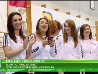"""Caravana """"Tara, Tara, vrem campioane"""" a ajuns la Bucuresti! Mii de viitoare gimnaste s-au inscris pana acum pentru visul de AUR"""