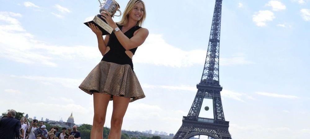 FOTO Ce a ratat Simona Halep! Sharapova, Regina Parisului dupa castigarea Roland Garros! Ce a facut dupa castigarea trofeului