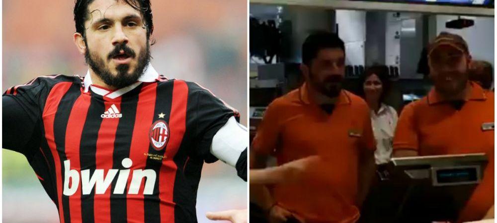 S-au dus sa-si ia un hamburger, dar nici nu-si imaginau ca vor da de el! Gattuso a lucrat pentru o zi la McDonald's! VIDEO