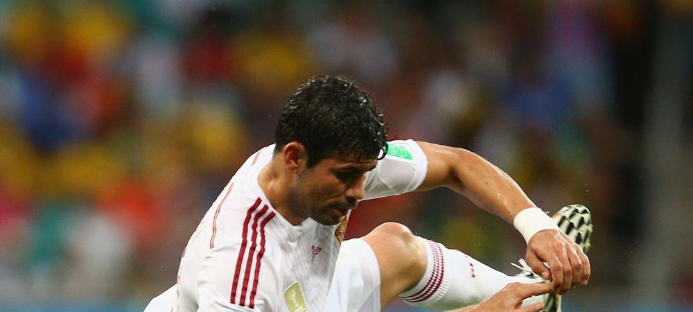 Spania trebuia sa joace in 10 oameni din min 54! La 2-1 pentru Olanda, Diego Costa trebuia trimis la vestiare!