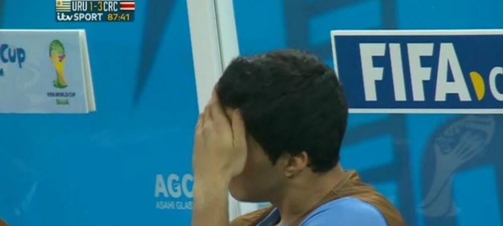 DRAMA traita de Luis Suarez in dezastrul cu Costa Rica! Cum a trait de pe banca cea mai mare lovitura de la acest mondial. FOTO