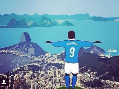 Balotelli si-a dezvaluit secretul pe net! Cum a reusit sa DISTRUGA Anglia la Mondial