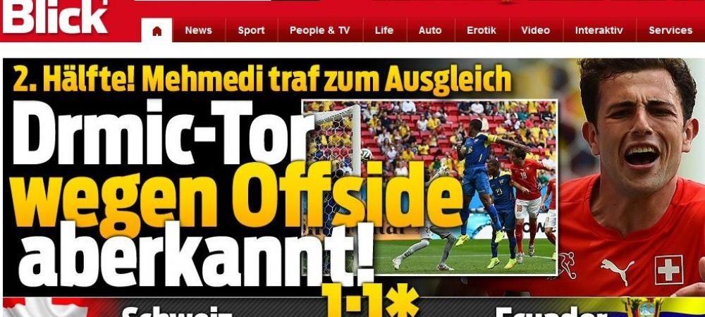 SCANDAL MONSTRU dupa inca o greseala aberanta la Mondial! Offside INVIZIBIL si gol furat Elvetiei