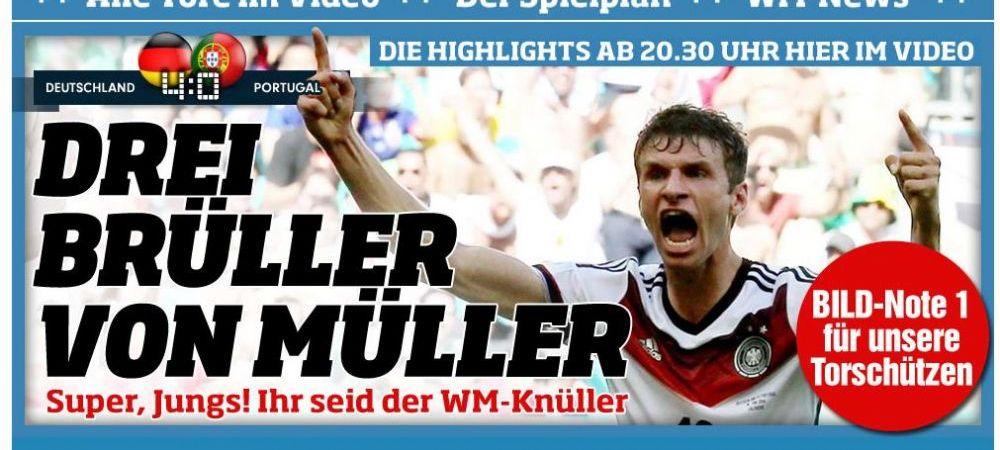 """""""FILM HORROR!"""" Presa din intreaga lume e SOCATA dupa Germania 4-0 Portugalia! Reactiile din cele mai importante ziare:"""