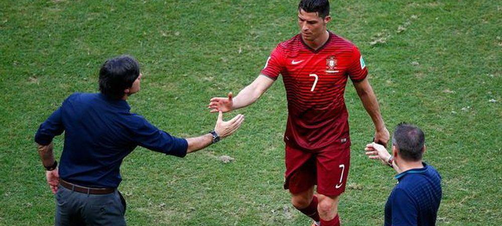 RUSINICA! Ce a facut selectionerul Germaniei inainte sa dea mana cu Ronaldo! VIDEO