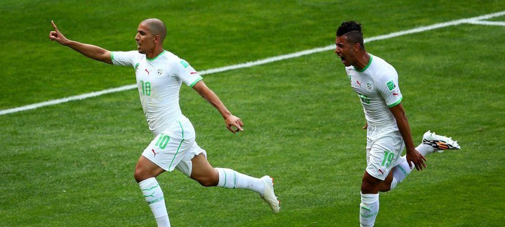 Momentul in care NIMENI nu a indraznit sa strice bucuria celor din Algeria! Ce s-a intamplat dupa golul marcat cu Belgia! FOTO