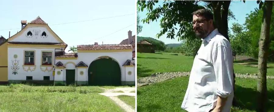 """""""Salveaza Romania frumoasa!"""". Cu 300.000 de euro, un neamt a transformat casele sasesti din Mures intr-o destinatie de vis"""