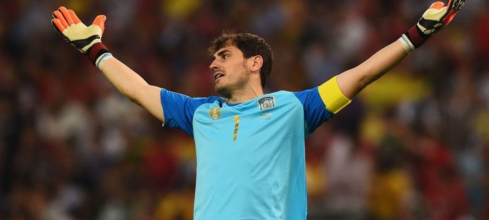 IMAGINI DRAMATICE! Cum a fost surprins Casillas in timpul meciului cu Chile