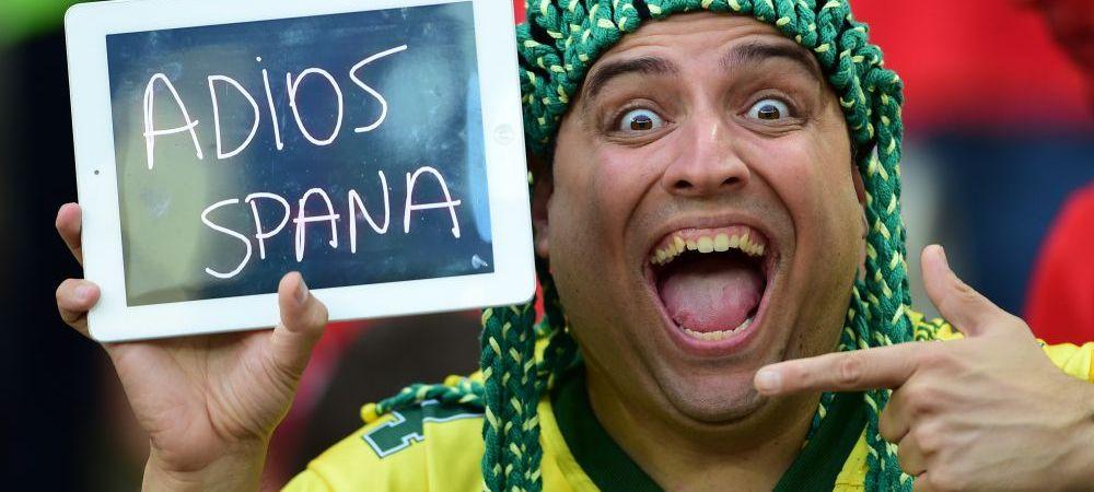 """""""Dar Spania nu era favorita?"""" Robinho a intrat pe internet si a postat asta imediat dupa eliminarea Spaniei"""