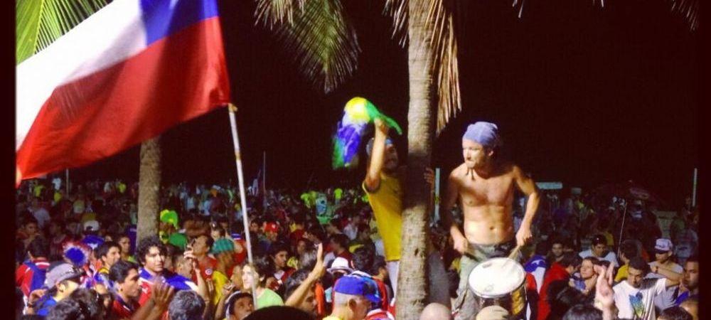 Imagini de senzatie: chilienii si brazilienii au petrecut toata noaptea pe Copacabana dupa eliminarea Spaniei! VIDEO