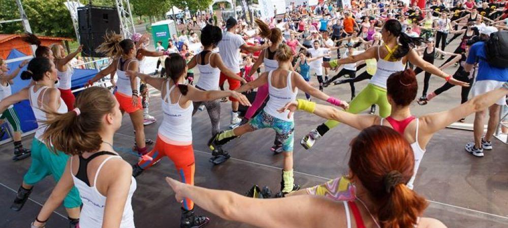 """(P) Peste 2000 de persoane au facut miscare la """"Cea mai mare ora de sport"""" din Bucuresti"""
