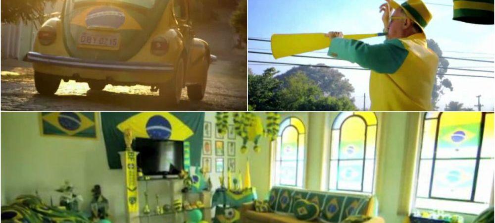 GENIAL! A facut o promisiune dupa ce Brazilia a luat CM '94! Dupa 20 de ani traieste doar in galben si verde! VIDEO