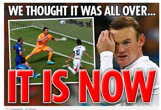 """""""Arrivederci! Plecam de la Mondial, dar ramanem cu Hodgson"""". Ce scriu ziarele din Anglia dupa ce Costa Rica a facut surpriza"""