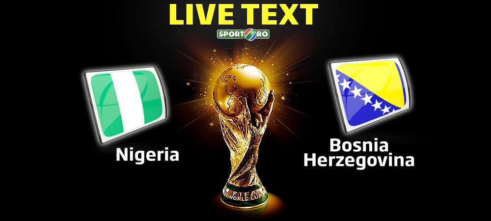 Bosnia e OUT de la Mondial: gol valabil furat de arbitru si o bara a lui Dzeko in min 92: Nigeria 1-0 Bosnia! REZUMAT