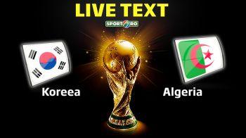 Algeria viseaza la calificare: un egal cu Rusia o duce in optimi! Coreea 2-4 Algeria: prima echipa africana care inscrie de 4 ori