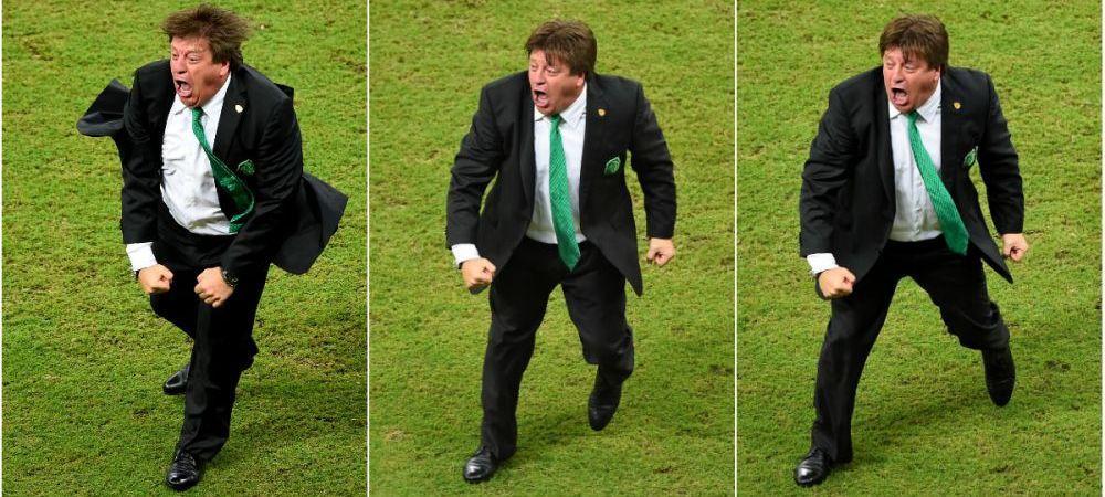 EPIC! :)) El este cel mai tare antrenor de la Mondial! Imagini de senzatie cu selectionerul Mexicului! GALERIE FOTO