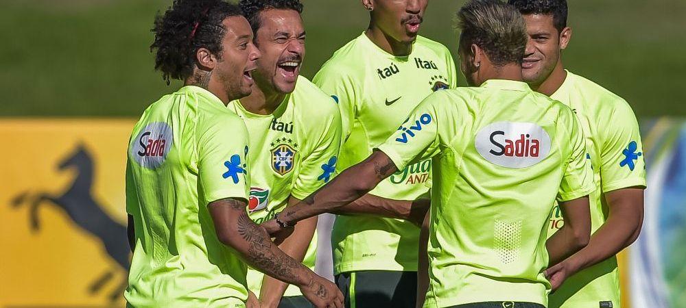 Caterinca momentului la antrenamentul Braziliei. Cum a incercat Neymar sa-l imite pe Suarez!