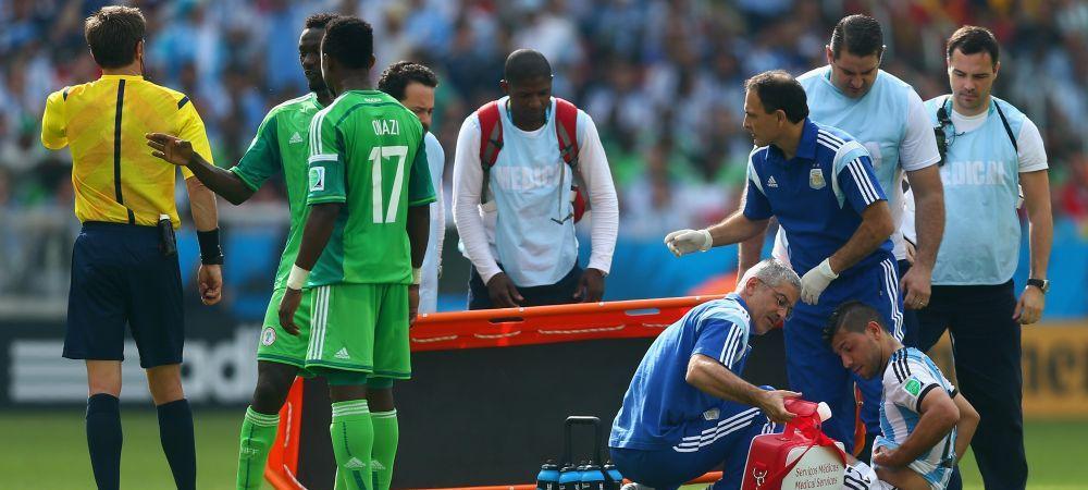Lovitura grea pentru Argentina: Kun Aguero s-a accidentat si va rata restul Mondialului!
